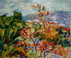 Autumn, Florianopolis (tadeusz dergowski) Tags: art painting landscape arte paisagem impressionism impressionist pintura pleinair pochade