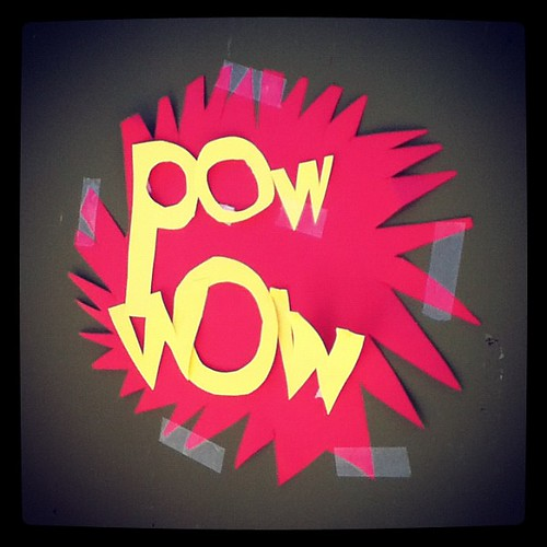 Pow! Wow! (Sign for our post-graduation huddle space last night at @tcslj)