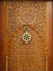 Ornate Wooden Door (K.G.Hawes) Tags: door wood city france french wooden carved lyon creative commons cc creativecommons porte ornate carvings intricate
