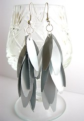 Metalic earrings (d'ekoprojects) Tags: recycled earrings ecofriendly handmadejewelry handmadeearrings upcycled recycledjewelry ecofriendlyjewelry upcycledjewelry