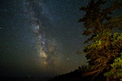 A tree by the sea (sherbypictures) Tags: park creek canon way stars raw cove vincent maine tokina national sherbrooke otter astronomy campground milky acadia fortin t3i blackwoods 1116 600d