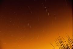 Street Lamp Star Trails (jennyshort1) Tags: red orange stars earth astro rotation nightsky startrails polaris