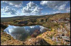 Old Quarry, Foggintor, Dartmoor. (DJMayne) Tags: reflection water landscape granite moors dartmoor quarry greatmistor foggintor littlemistor stapletor dartmoorinn roostor