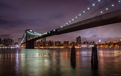 Brooklyn Bridge by Night - New York