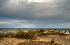 WindyLakefront (jmishefske) Tags: park county beach wisconsin pier pentax grant sandy windy lakemichigan shore milwaukee april lakefront 2014 k01