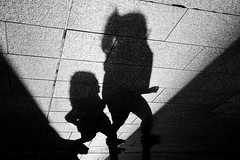 ShadowLife2 (dinsy2) Tags: shadow silhouette shadows daughter mother motheranddaughter pavers rundlemall hardlight