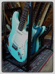 Blue Ones (shortscale) Tags: guitar fender mustang sunn supersonic jagstang