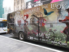 Alice Through the Looking Glass Bus Billboard 9146 (Brechtbug) Tags: street new york city nyc bus film glass cat movie tim looking cheshire near alice broadway lewis disney double billboard johnny billboards carroll through mad depp avenue wonderland 7th 42nd hatter burtons decker in 2016 05192016
