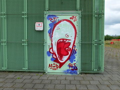 Graffiti (oerendhard1) Tags: urban streetart art graffiti rotterdam ominous vandalism traintrack trackside omin