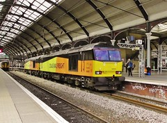 Colas Rail Class 60s Nos. 60076 & 60002 at Newcastle Central - 21st May 2016. (allan5819 (Allan McKever)) Tags: uk travel england station newcastle diesel transport central engine rail railway loco tyneside eastcoastmainline doubleheader colas ecml class60 60002 60076