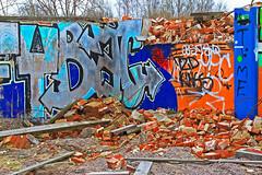 Tegelskrot 1 (Quo Vadis2010) Tags: art tom painting graffiti se ruins paint grafitti message sweden empty konst doodle graffitti expressive scrawl lonely sverige solitary revolt scribble halmstad tegel disrepair klotter halland industri industrialruins unoccupied ödslig måla målning bostäder rivning förfall övergiven bruk kludd väggmålning budskap slottsmöllan abandonedruin tegelbruk spraya meansofexpression affärer självförverkligande enslig övergivenindustri industriiförfall municipalityofhalmstad formerbrickworks youthrevolt halmstadkommun norrainfarten wayofexpressingoneself uttrycksform sättattuttryckasig ungdomsrevolt synliggörande industryindisrepair föredettategelbruk underrivning kommandebostadsbebyggelse spreja konstnärligayttringar slottsmöllansbruk