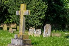 Cross in the Graveyard (mattpacker1978) Tags: church grave graveyard canon 50mm cross god outdoor rip jesus peaceful lord dslr 18 700d