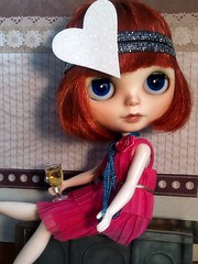Toy-in-the-Frame Thursday&Creative Tabletop Photography&Blythe-a-Day June#1: Girls Just Wanna Have Fun: Clara Bow Agrees!
