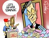 0616 voinovich memorial cartoon (DSL art and photos) Tags: ohio memorial mayor senator cleveland governor obituary editorialcartoon costcutter pragmatist donlee georgevoinovich