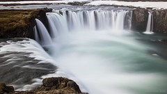 it's in Spring when waterfalls gather speed (lunaryuna) Tags: longexposure panorama nature beauty river season landscape waterfall iceland spring rocks cliffs le lunaryuna waterscape goafoss rivergorge seasonalchange myvatnregion skjlfandafljtriver centralnorthiceland