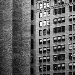 New York Architecture #270 (Ximo Michavila) Tags: city nyc windows urban bw usa newyork abstract building geometric lines architecture square grey blackwhite cityscape bricks 11 archidose archdaily archiref ximomichavila