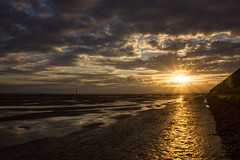 Summer Solstice Meols Beach (cathbooton) Tags: morning sky seascape beach clouds sunrise landscape dawn rays canoneos wirral summersolstice firstlight merseyside june21st longestday polarisingfilter canonusers
