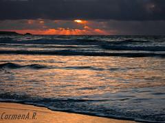 Stormy weather (CarmenA.Ruano) Tags: sunset storm beach island hope walk playa paseo tormenta canary esperanza crepsculo