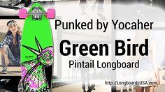 Punked Green Bird Pi (longboardsusa) Tags: usa green bird pi skate skateboards punked longboards longboarding