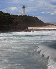 0S1A8130 (Steve Daggar) Tags: lighthouse seascape storm surf waves moody dramatic wave australia coastline norahhead soldiersbeach