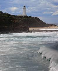 0S1A8130 (Steve Daggar) Tags: lighthouse seascape storm surf waves moody dramatic wave australia coastline norahhead soldiersbeach
