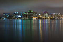 Halifax Skyline (bluegreenorange) Tags: reflection night halifax skyline longexposure ns novascotia dartmouth canada ca
