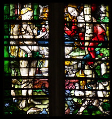 Eve tempted in the Garden of Eden (English glass, 16th Century) (Simon_K) Tags: cambridge college university chapel stainedglass tudor kings cambridgeshire eastanglia 16thcentury cambs