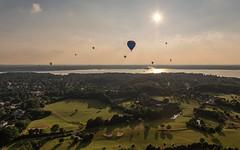 Kiel week 2016 -  Hot air ballooning I (Stefan Sellmer) Tags: sun water festival de landscape deutschland outdoor bluesky balticsea hotairballoon kiel schleswigholstein kielweek heikendorf