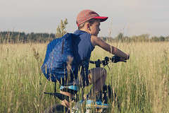 (Khuroshvili Ilya) Tags: trip boy portrait sky people nature face field bike bicycle giant offroad outdoor crocs