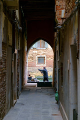 The Streets Aren't Gold (Jeremy Brooks) Tags: venice italy gondola venezia gondolier veneto camera:make=fujifilm camera:make=fuji camera:model=xpro1