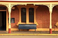 Bench (Darren Schiller) Tags: windows station architecture bench seat bricks railway newsouthwales verandah junee