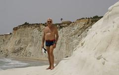 me_Scala_dei_Turchi_5021 (Manohar_Auroville) Tags: girls sea italy white beach beauty seaside rocks perspectives special scala sicily luigi dei agrigento fedele turchi scaladeiturchi manohar