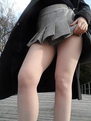 two beauties ... and legs (faberlatusm - 200 mio views) Tags: sexy fashion erotic legs sensual elegant miniskirt pantyhose teasing shortskirt microskirt pantieless publicupskirt flashinpublic