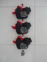 Mbile Galinhas de angola charmosas (Ateli de Ideias) Tags: feltro cozinha mbile galinhas