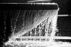 Fountain at Bellevue Downtown Park (KurtClark) Tags: blackandwhite water fountain backlight washington iso400 backlit bellevue backlighting 2012 canonrebel2000 fuji400 downtownpark