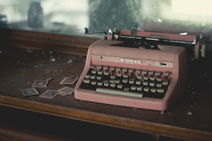 (yyellowbird) Tags: pink house abandoned typewriter vintage illinois royal