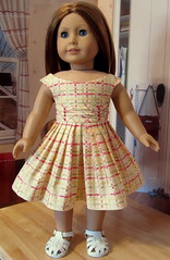 1950's Summer Frock with Ruching- Made to Fit AG Doll Emily or Molly (Keepersdollyduds) Tags: girl emily doll dress molly american 1950s frock 1950 ruching keepersdollyduds