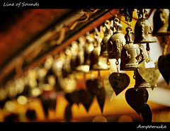 Line of Sounds /  (AmpamukA) Tags: travel wallpaper thailand gold angle bell line mai thai sound wat chiang doi suthep      ampamuka