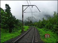 Monsoon Magic @ Bhor Ghat (Ankit Bharaj) Tags: old mountains canon indian tracks style hills gradient 100 mast mumbai railways pune ankit 137 catenary sx ghat ohe irfca bhor bharaj