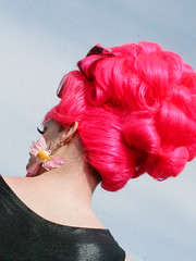 Pink Wig and Hummingbird Earrings (shaire productions) Tags: sf sanfrancisco california park pink people lady female easter outdoors photo costume spring women colorful hummingbird image candid group dressup lifestyle hairdo style celebration photograph wig gathering leisure earrings annual hairstyle dolorespark stylish imagery