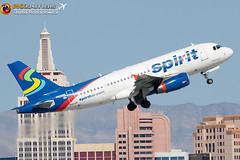 Spirit A319-132 N505NK KLAS (Freightdog Photography - Jared Romanowicz) Tags: las vegas canon eos rebel flying is spirit aircraft aviation flight jet airbus l xs airlines klas a319 100400 a319100 a319132 n505nk