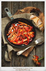 Grilled Peppers (Food Photography by Alexey & Julia) Tags: food vegetables bread photography healthy ingredients peppers grilled foodphotography foodstyling