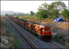 Twin KGP WDG-3A (Ankit Bharaj) Tags: summer sunlight india rock train canon wagon photography evening is diesel indian duty engine twin rail cutting locomotive 100 coal curve heavy railways freighter enthusiasm ankit sx alco railfanning dbr sason kgp kharagpur orrisa irfca bharaj sambalpur wdg3a jharsuguda bobrn rengali