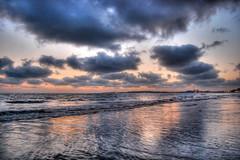 monsoon come soon! ([s e l v i n]) Tags: light india beach water clouds lights sand dusk monsoon bombay mumbai hdr versova beachwater versovabeach travellingclouds mumbaibeach ©selvin