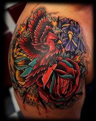 cardinal&roses