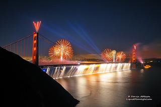 Firefalls of Color - Golden Gate Bridge