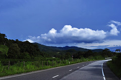 Abstract scene of the road under blue sky (e.nhan) Tags: road blue sky abstract under scene dalat enhan