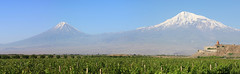 Khor Virap and Ararat moutains (David Pin) Tags: roof sky mountain snow mountains tower church stone wall architecture outdoors ancient asia cross hill religion chapel medieval christian monastery caucasus armenia spirituality middle past orthodox ages chor scenics kloster monastre chrtien ararat orthodoxchurch armnie landscaped  khorvirap virap   hayastan dagh      hayastani  aghur  hanrapetutyun