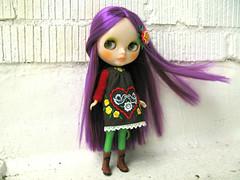Violetta (Helena / Funny Bunny) Tags: doll blythe rbl reroot funnybunny ahcahcumzukin violettaplum folkfancy fbfashion