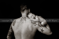 Daddy's Strong Arms (Heidi Hope) Tags: newborn newborngirl newbornphotographer heidihopephotography heidihope riphotographer providenceriphotographer warwickriphotographer wwwheidihopecom